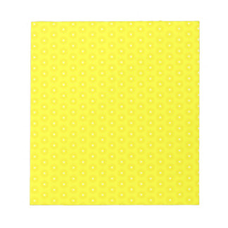Brilliant Lemon Yellow Sunshine Stars Pattern Notepad
