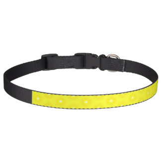 Brilliant Lemon Yellow Sunshine Stars Pattern Pet Collar