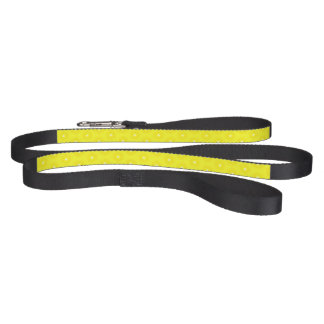 Brilliant Lemon Yellow Sunshine Stars Pattern Pet Lead