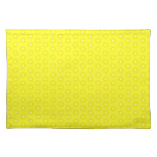 Brilliant Lemon Yellow Sunshine Stars Pattern Placemat