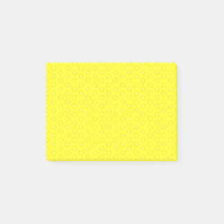 Brilliant Lemon Yellow Sunshine Stars Pattern Post-it Notes