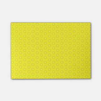 Brilliant Lemon Yellow Sunshine Stars Pattern Post-it Notes