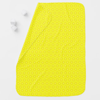 Brilliant Lemon Yellow Sunshine Stars Pattern Swaddle Blanket