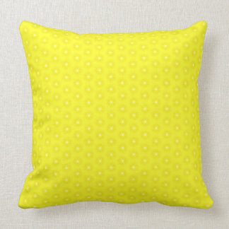 Brilliant Lemon Yellow Sunshine Stars Pattern Throw Pillow