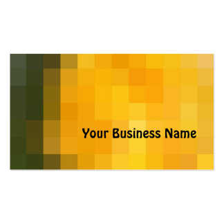 Brilliant Orange and Brown Abstract Business Card