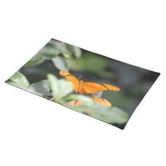 Brilliant Orange Butterfly Cloth Place Mat