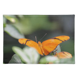 Brilliant Orange Butterfly Cloth Placemat