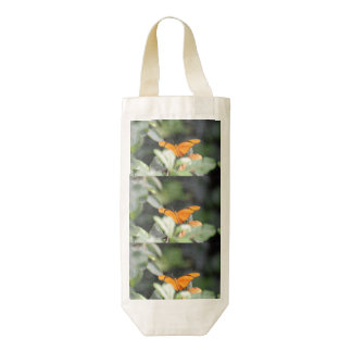Brilliant Orange Butterfly Zazzle HEART Wine Bag