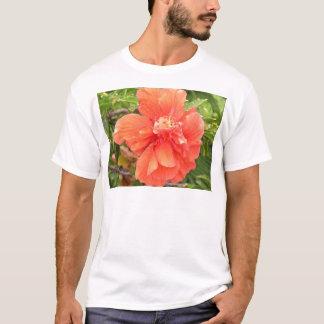 Brilliant Orange Hibiscus T-Shirt
