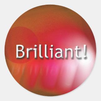 """""""Brilliant"""" orange stickers"""