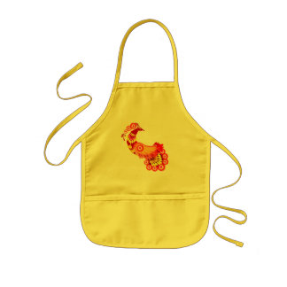 Brilliant Peacock Kids' Apron