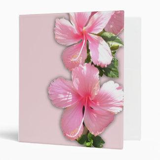 Brilliant Pink Hawaiian Hibiscus Flowers Binders