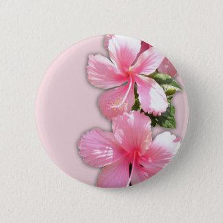Brilliant Pink Hawaiian Hibiscus Flowers Button