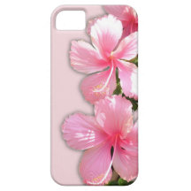 Brilliant Pink Hawaiian Hibiscus Flowers iPhone 5 Covers