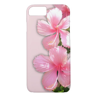 Brilliant Pink Hibiscus Flowers iPhone 8/7 Case
