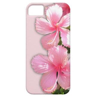 Brilliant Pink Hibiscus Flowers iPhone SE/5/5s Case