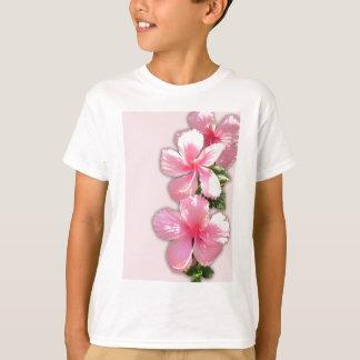 Brilliant Pink Hibiscus Flowers T-Shirt