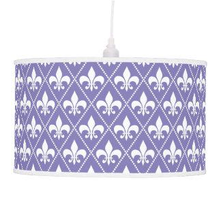 Brilliant Purple Fleur de Lis Ceiling Lamp
