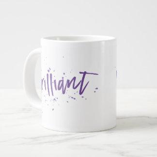 Brilliant! Purple splash any color Large Coffee Mug