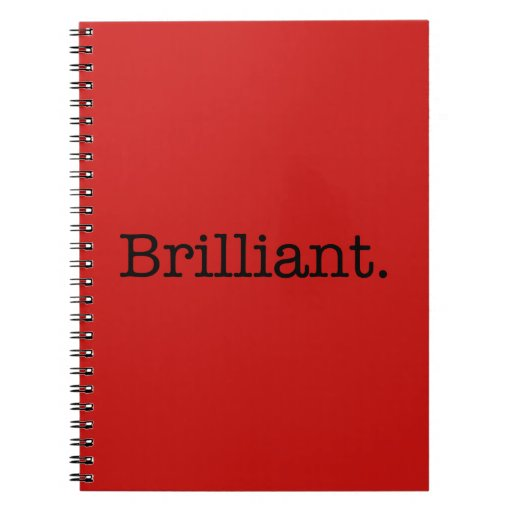 Brilliant Quote Poppy Red Trend Color Template Spiral Note Book