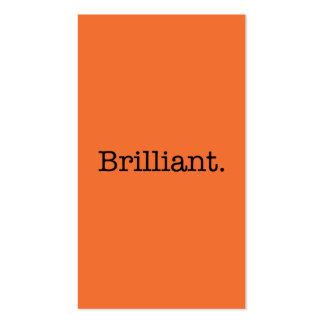 Brilliant Quote Tangerine Orange Trend Color Business Card