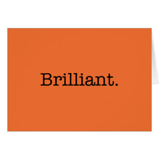 Brilliant Quote Tangerine Orange Trend Color Card