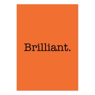 Brilliant Quote Tangerine Orange Trend Color Large Business Card