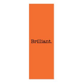 Brilliant Quote Tangerine Orange Trend Color Mini Business Card
