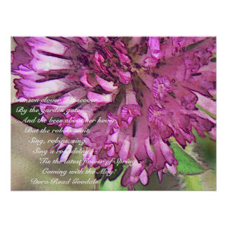 Brilliant Red Clover Print