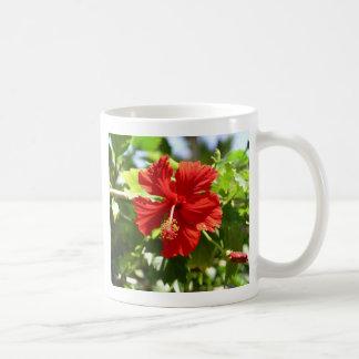 Brilliant Red Hibiscus Coffee Mug