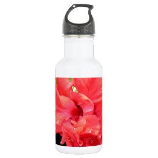 Brilliant Red Hibiscus Flower Water Bottle