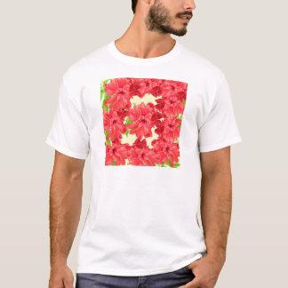 Brilliant Red Hibiscus Flowers T-Shirt
