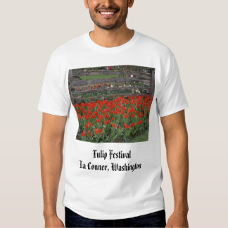 brilliant_red_in_front_of_fence, Tulip Festival... Shirt