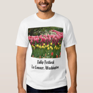 brilliant_red_in_front_of_fence, Tulip Festival... T-shirt