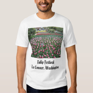 brilliant_red_in_front_of_fence, Tulip Festival... T Shirt