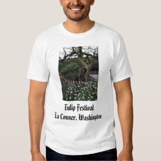 brilliant_red_in_front_of_fence, Tulip Festival... Tee Shirt