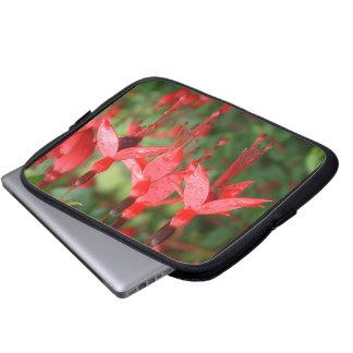 Brilliant red lantern flower Electronics Bag