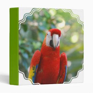 Brilliant Red Parrot Binder