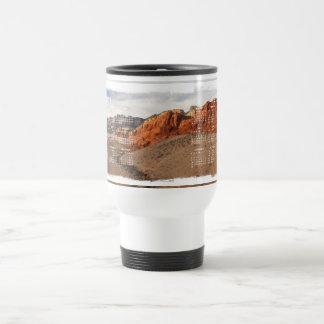 Brilliant Red Rocks; 2012 Calendar 15 Oz Stainless Steel Travel Mug