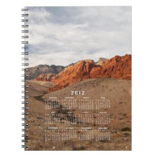 Brilliant Red Rocks; 2012 Calendar Spiral Note Book