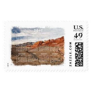 Brilliant Red Rocks; 2012 Calendar Postage Stamp