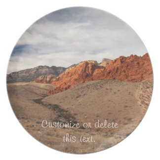 Brilliant Red Rocks; Customizable Party Plate