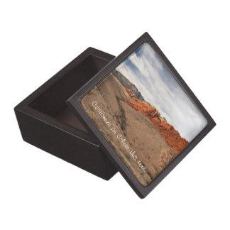 Brilliant Red Rocks; Customizable Premium Trinket Boxes