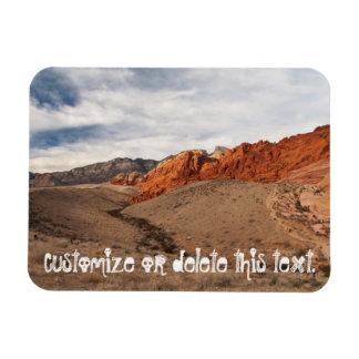 Brilliant Red Rocks; Customizable Rectangular Photo Magnet