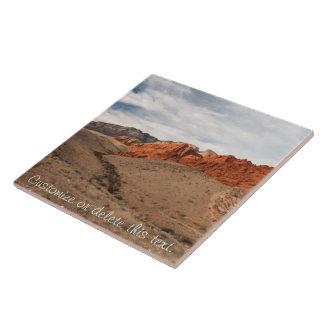 Brilliant Red Rocks; Customizable Large Square Tile