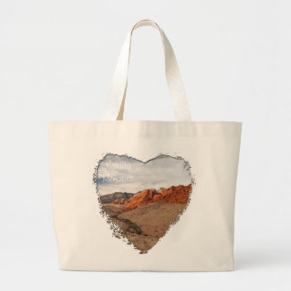 Brilliant Red Rocks; Nevada Souvenir Jumbo Tote Bag