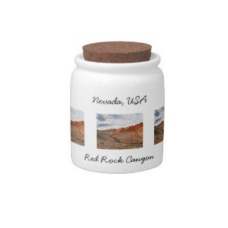 Brilliant Red Rocks; Nevada Souvenir Candy Jar