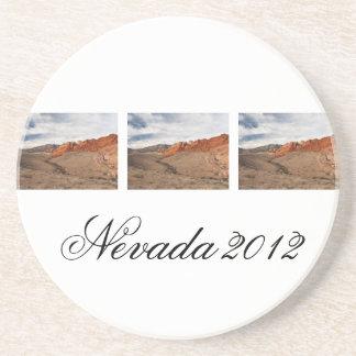 Brilliant Red Rocks; Nevada Souvenir Drink Coaster
