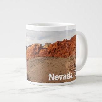 Brilliant Red Rocks; Nevada Souvenir 20 Oz Large Ceramic Coffee Mug