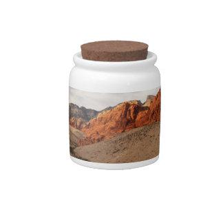 Brilliant Red Rocks; No Text Candy Jar